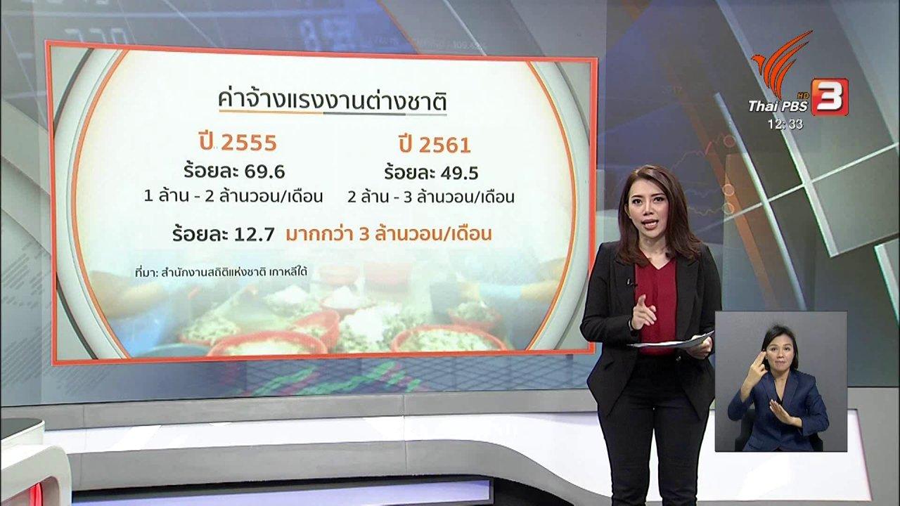 จับตาสถานการณ์ - จับสัญญาณเศรษฐกิจ : แรงงานไทยผิดกฎหมายในเกาหลีใต้