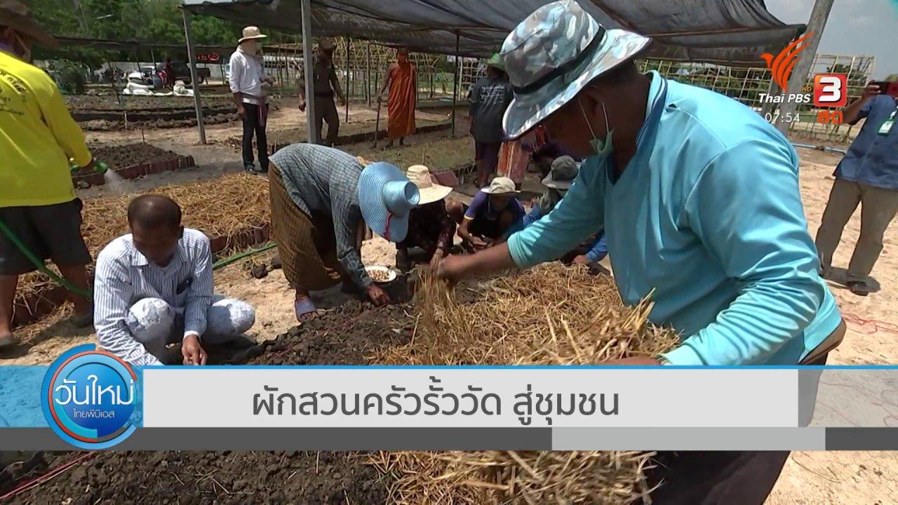 วันใหม่  ไทยพีบีเอส - ตอบโจทย์ภัยพิบัติ : ผักสวนครัวรั้ววัดสู่ชุมชน