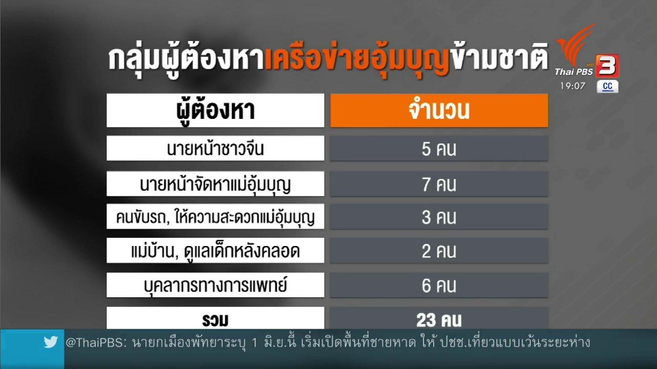 ข่าวค่ำ มิติใหม่ทั่วไทย - ปิดคดีอุ้มบุญค้าทารกข้ามชาติ