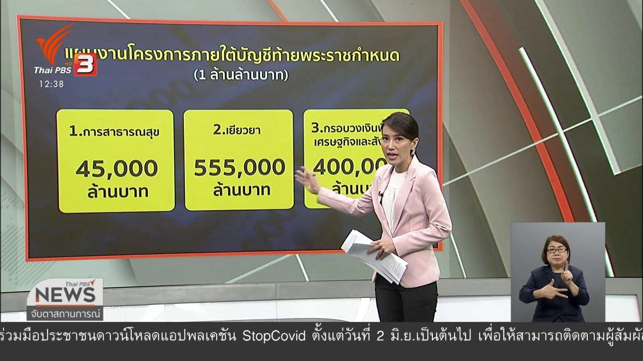 จับตาสถานการณ์ - วัคซีนเศรษฐกิจ : เงิน 1 ล้านล้านบาทไปที่ไหน - อย่างไร