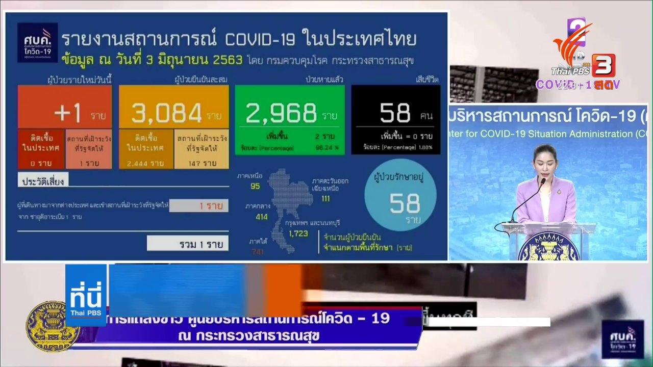 ที่นี่ Thai PBS - ศบค. ขอประชาชนร่วมเดินหน้าสู่ระยะ 4
