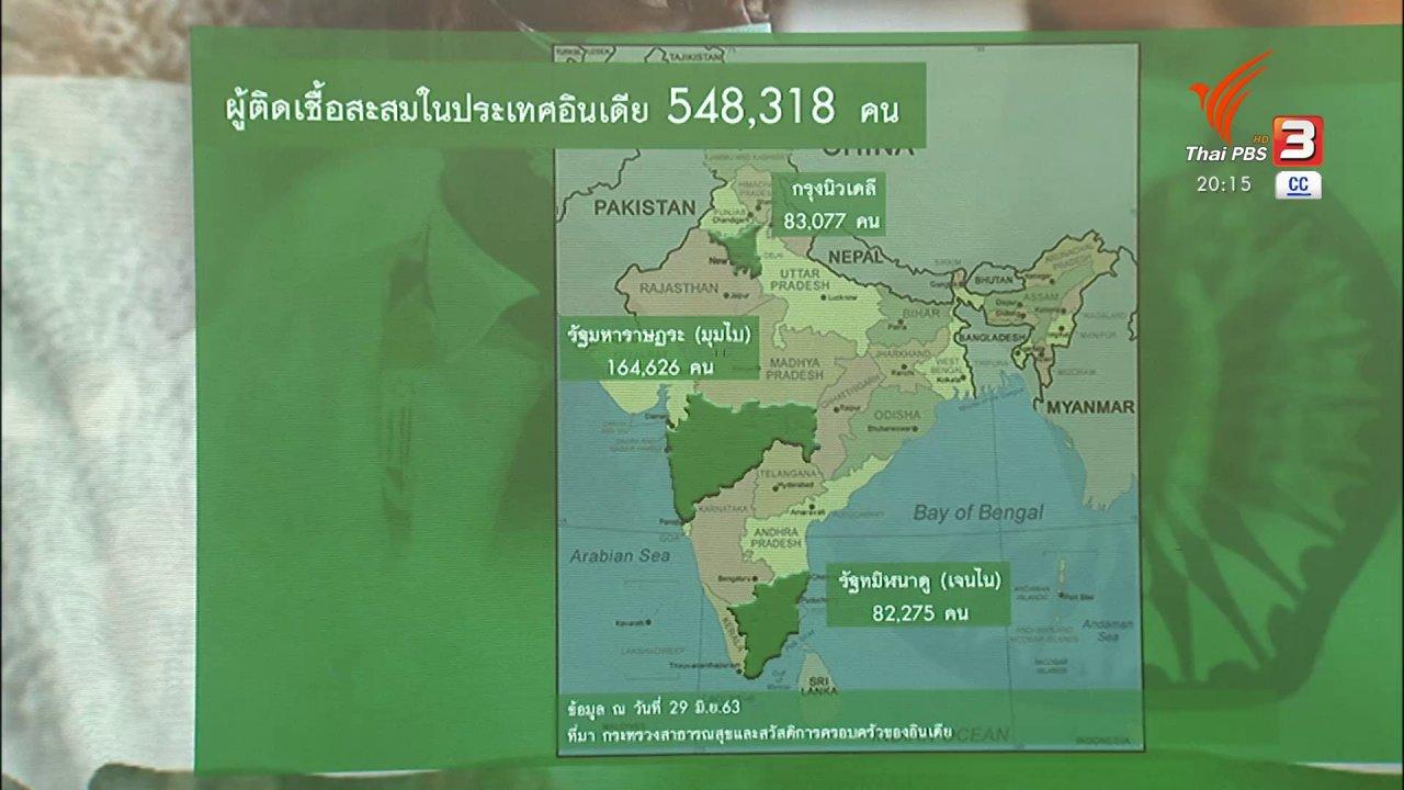 ข่าวค่ำ มิติใหม่ทั่วไทย - วิเคราะห์สถานการณ์ต่างประเทศ : โควิด-19 อินเดียยังน่าห่วง รัฐปิดเมืองไร้ผล