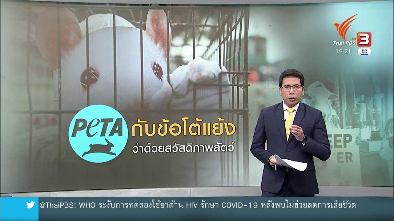 ข่าวค่ำ มิติใหม่ทั่วไทย - วิเคราะห์สถานการณ์ต่างประเทศ : ย้อนมอง PETA กับข้อโต้แย้งด้านสวัสดิภาพสัตว์