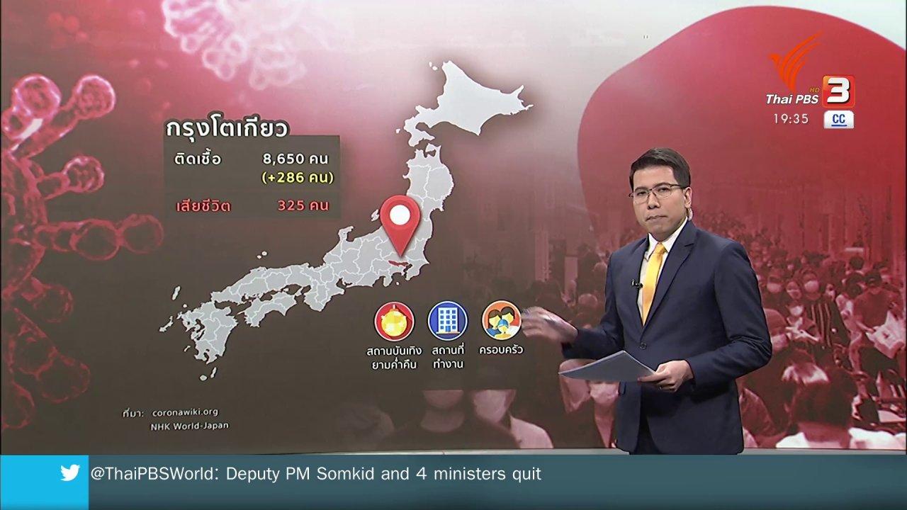 ข่าวค่ำ มิติใหม่ทั่วไทย - วิเคราะห์สถานการณ์ต่างประเทศ : ญี่ปุ่นเผชิญโควิด-19 ระบาดระลอกใหม่