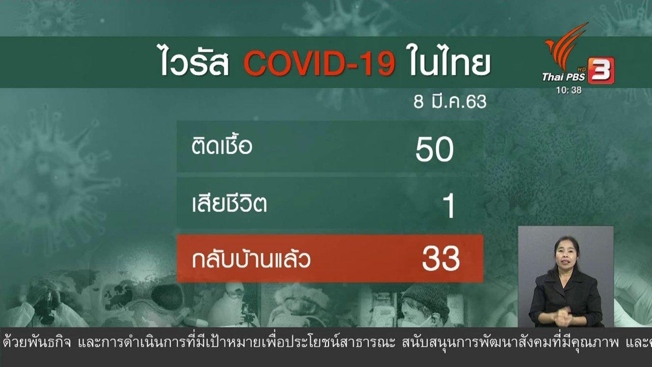 จับตาสถานการณ์ - ตั้งเป้าชะลอการระบาดของโควิด-19 ในประเทศให้นานที่สุด