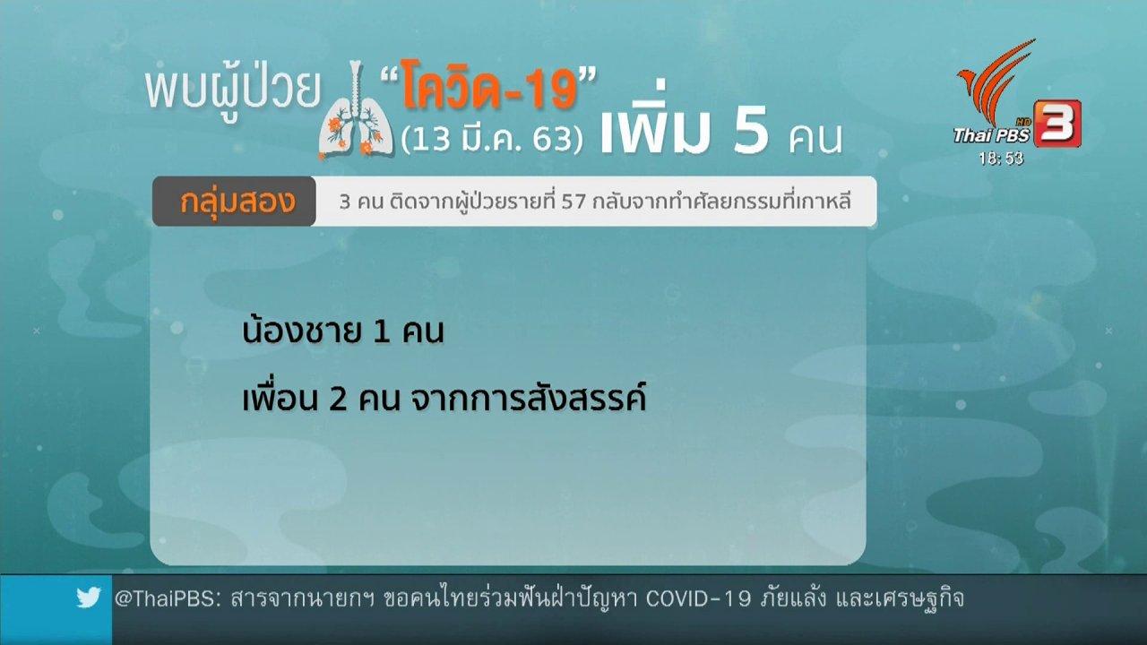 ข่าวค่ำ มิติใหม่ทั่วไทย - สธ.พบผู้ป่วยโควิด-19 เป็นกลุ่มเพิ่มอีก 5 คน