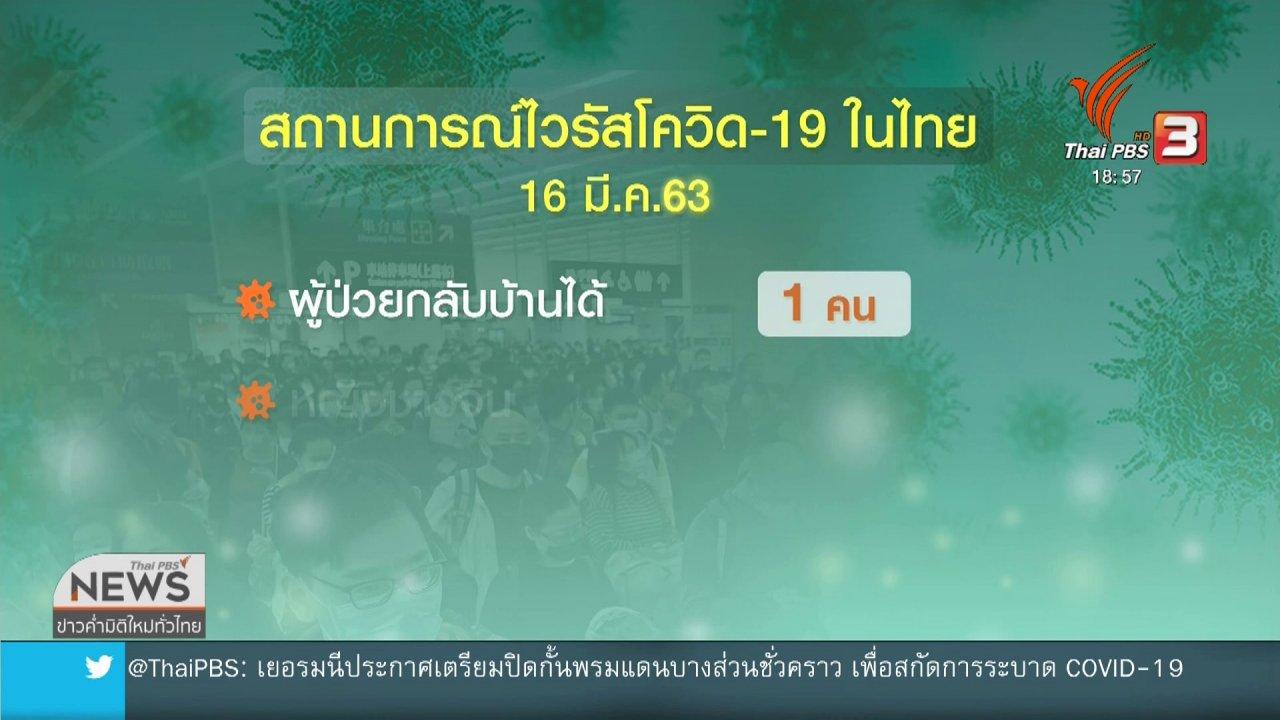 ข่าวค่ำ มิติใหม่ทั่วไทย - สธ.พบผู้ป่วยติดเชื้อเพิ่ม 33 คน