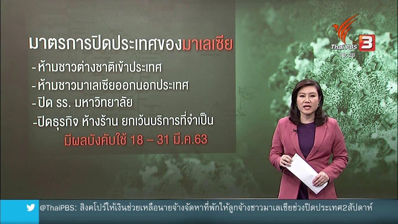 ข่าวค่ำ มิติใหม่ทั่วไทย - วิเคราะห์สถานการณ์ต่างประเทศ : มาเลเซีย-ฟิลิปปินส์ สั่งปิดพื้นที่รับมือโควิด-19