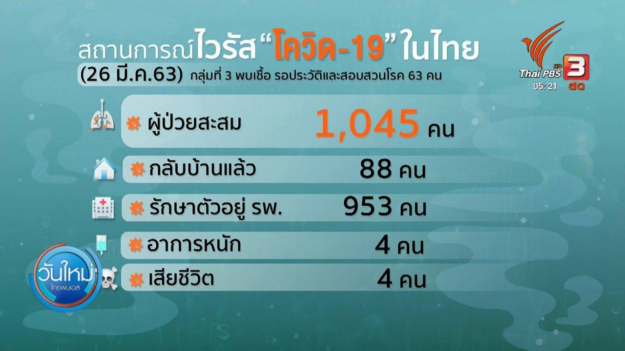 วันใหม่  ไทยพีบีเอส - คาดสิ้นเดือนเมษายนไทยพบผู้ป่วยเพิ่มสูง