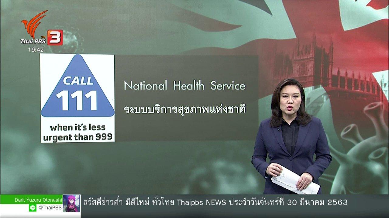 ข่าวค่ำ มิติใหม่ทั่วไทย - วิเคราะห์สถานการณ์ต่างประเทศ : อังกฤษใช้ปัญญาประดิษฐ์รับมือโควิด-19