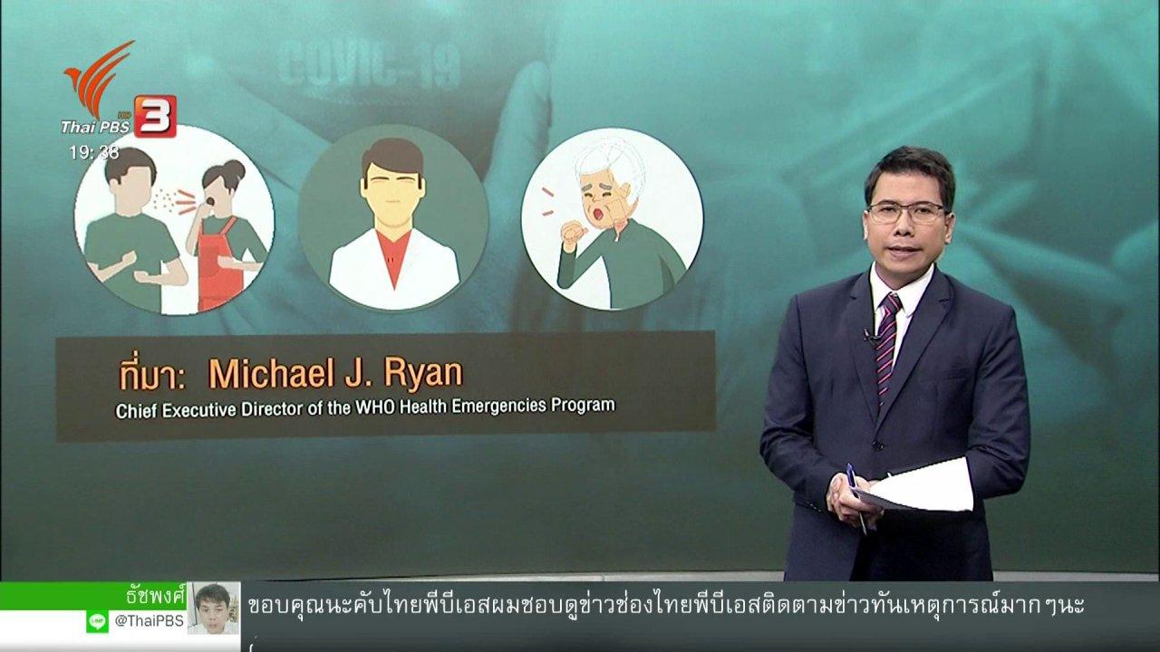 ข่าวค่ำ มิติใหม่ทั่วไทย - วิเคราะห์สถานการณ์ต่างประเทศ  : ไขข้อข้องใจใครควรใส่หน้ากากอนามัย