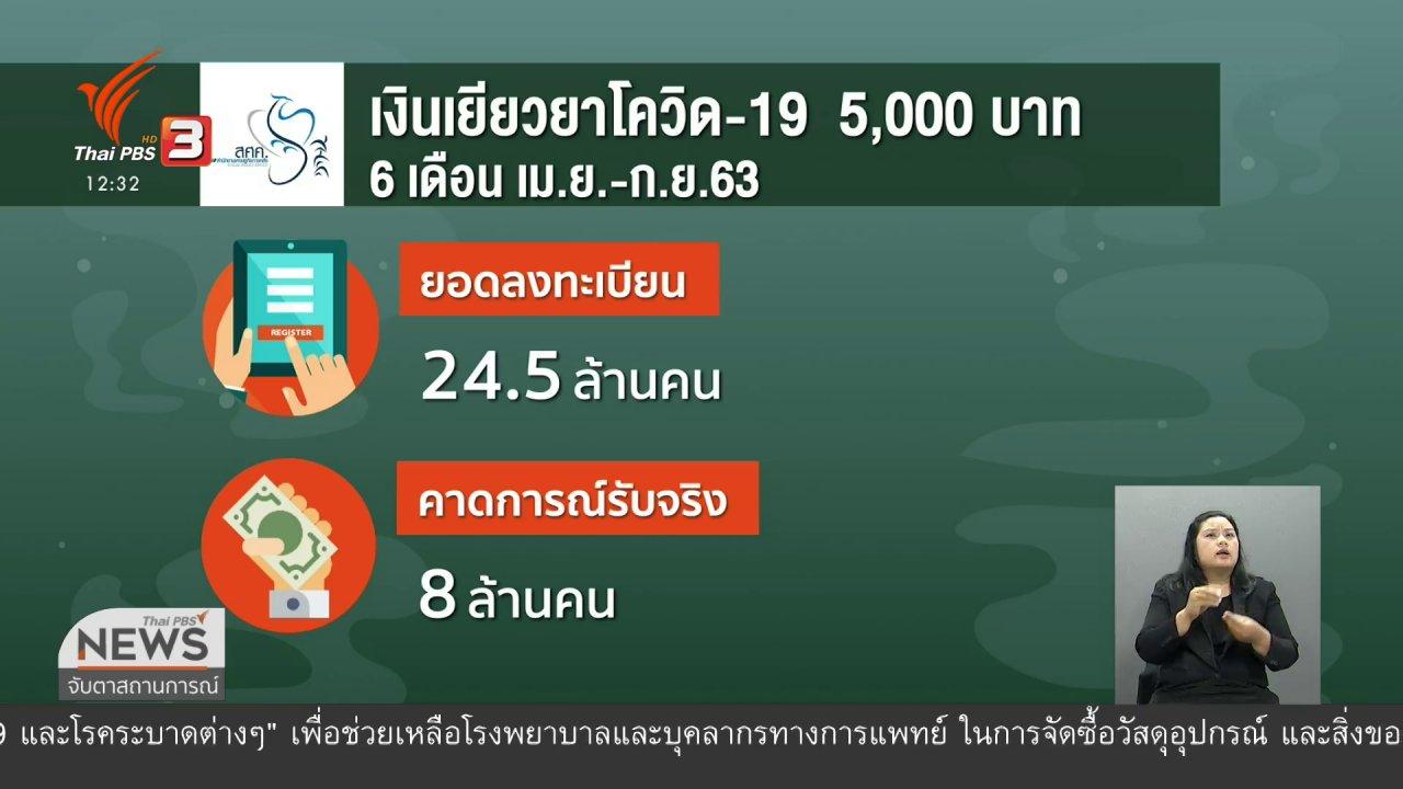 จับตาสถานการณ์ - วัคซีนเศรษฐกิจ : จ่ายเงินเยียวยาผู้ได้รับผลกระทบโควิด-19 วันแรก