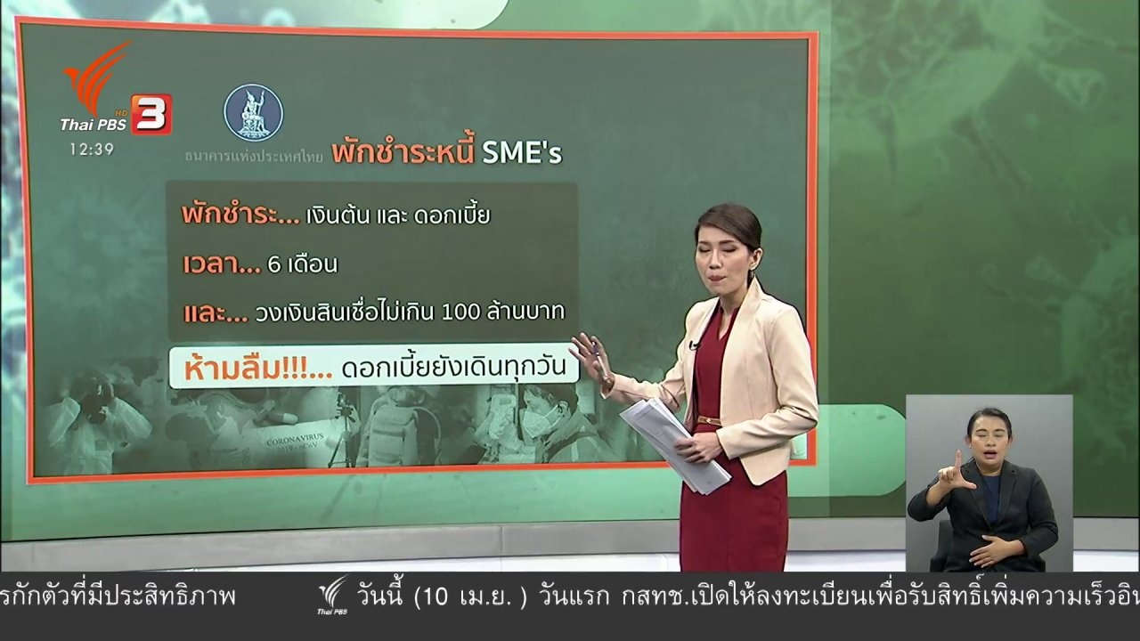 จับตาสถานการณ์ - วัคซีนเศรษฐกิจ : พักหนี้ เสริมทุน ลดดอก SME's ต้องรอด