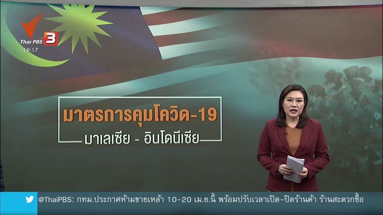 ข่าวค่ำ มิติใหม่ทั่วไทย - วิเคราะห์สถานการณ์ต่างประเทศ : มาตรการคุมเข้มโควิด-19 ในมาเลเซียและอินโดนีเซีย