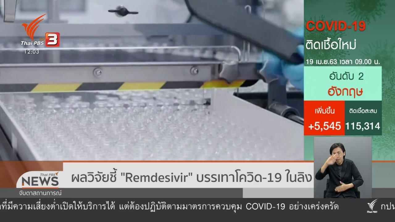 จับตาสถานการณ์ - ผลวิจัยชี้ Remdesivir บรรเทาโควิด-19 ในลิง