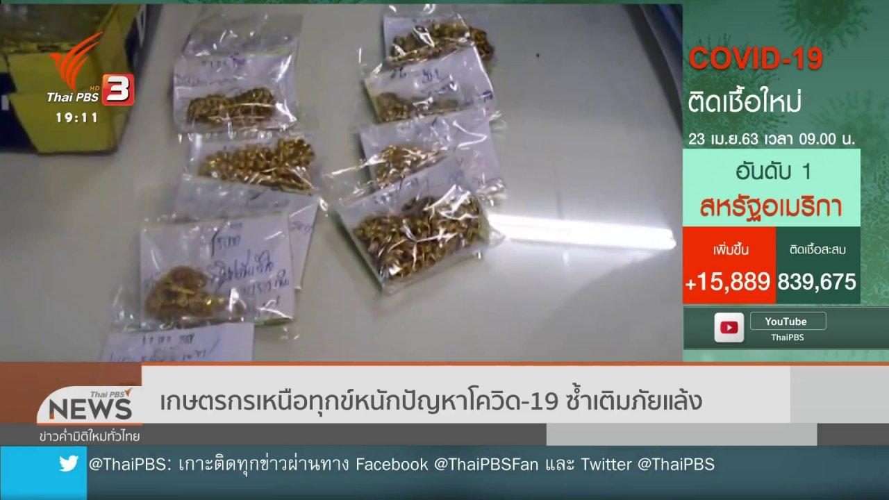 ข่าวค่ำ มิติใหม่ทั่วไทย - เกษตรกรเหนือทุกข์หนักปัญหาโควิด19 ซ้ำเติมภัยแล้ง