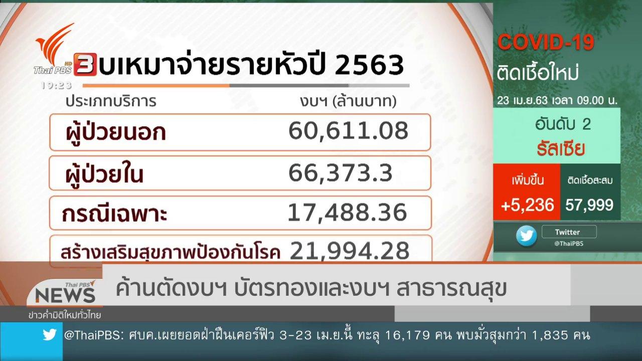 ข่าวค่ำ มิติใหม่ทั่วไทย - ค้านตัดงบฯ บัตรทองและงบฯ สาธารณสุข