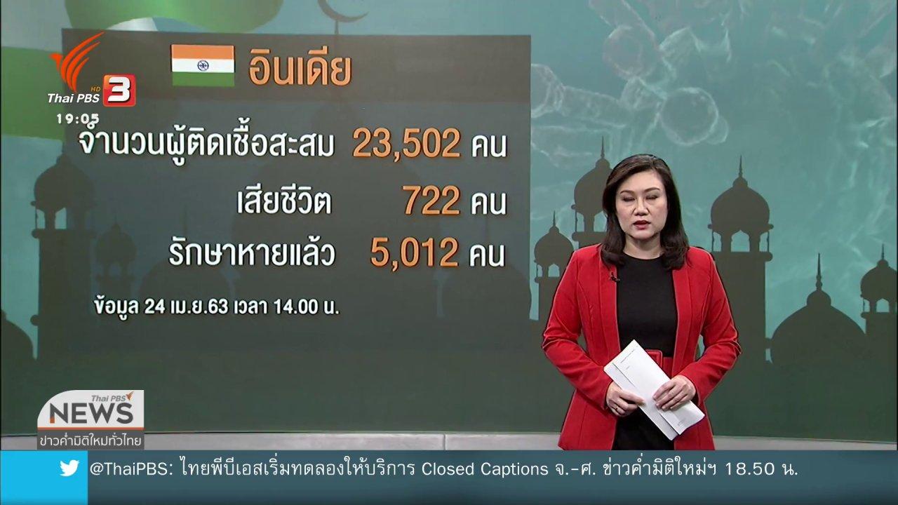 ข่าวค่ำ มิติใหม่ทั่วไทย - วิเคราะห์สถานการณ์ต่างประเทศ : อินเดียคุมเข้มโควิด-19