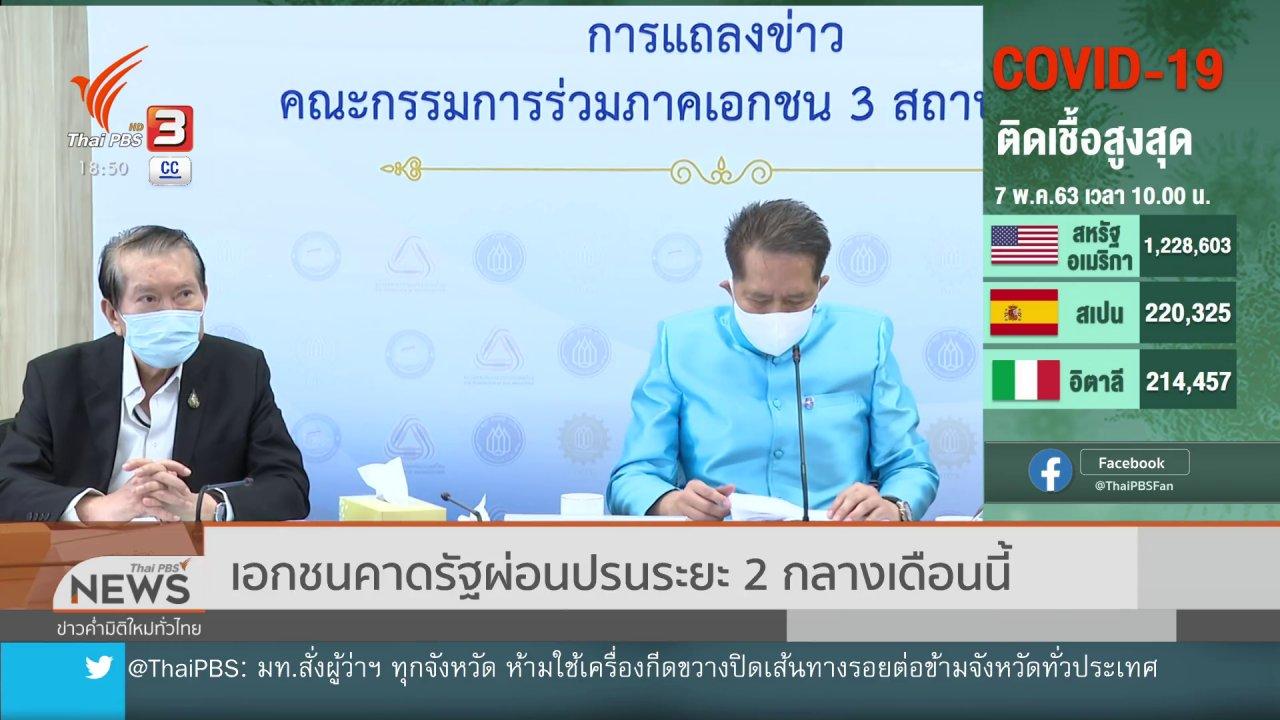 ข่าวค่ำ มิติใหม่ทั่วไทย - เอกชนคาดรัฐผ่อนปรนระยะ 2 กลางเดือนนี้