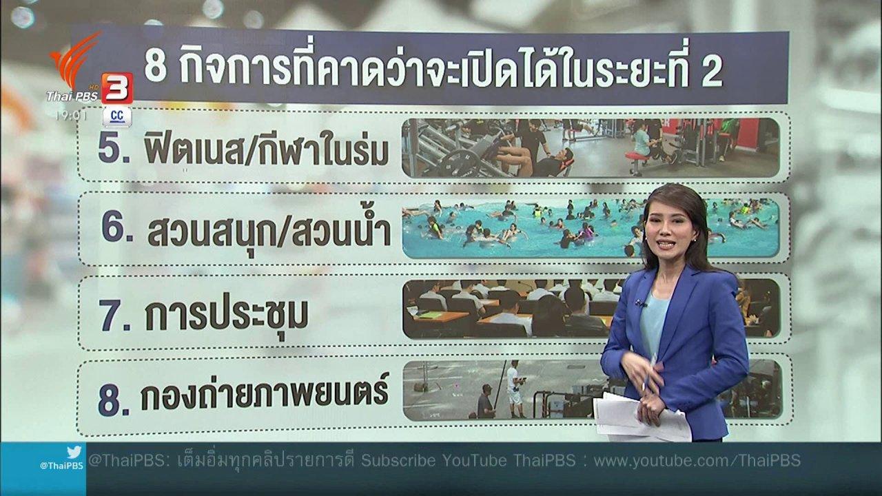 ข่าวค่ำ มิติใหม่ทั่วไทย - คลายล็อคระยะ 2 ต้องไม่คลายเข้มข้น