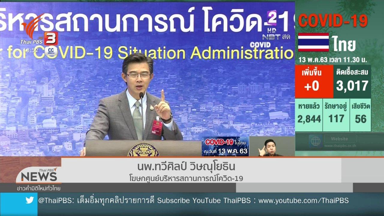 ข่าวค่ำ มิติใหม่ทั่วไทย - ศบค.ชี้ตัวเลขติดเชื้อโควิด-19 เป็นศูนย์