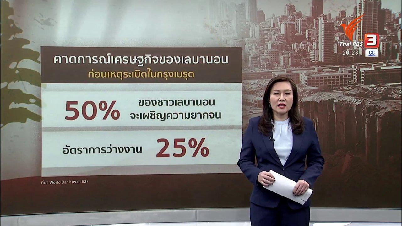 ข่าวค่ำ มิติใหม่ทั่วไทย - วิเคราะห์สถานการณ์ต่างประเทศ : เหตุระเบิดเลบานอน ตัวเร่งนำประเทศสู่รัฐล้มเหลว