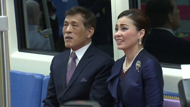 ในหลวง-พระราชินี ทรงเปิดรถไฟฟ้าสายสีน้ำเงิน