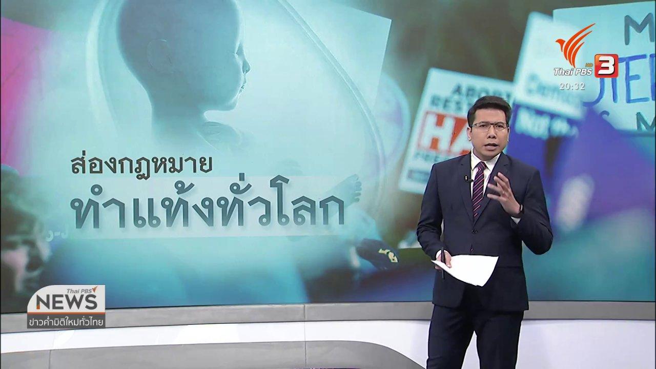 ข่าวค่ำ มิติใหม่ทั่วไทย - วิเคราะห์สถานการณ์ต่างประเทศ : ส่องสถานะกฎหมายทำแท้งทั่วโลก