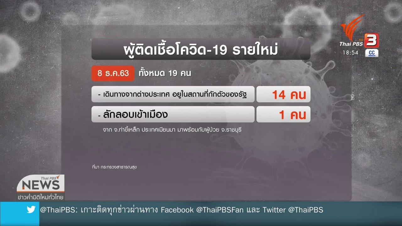 ข่าวค่ำ มิติใหม่ทั่วไทย - บุคลากรทางการแพทย์ติดโควิด-19 เพิ่ม 4 คน
