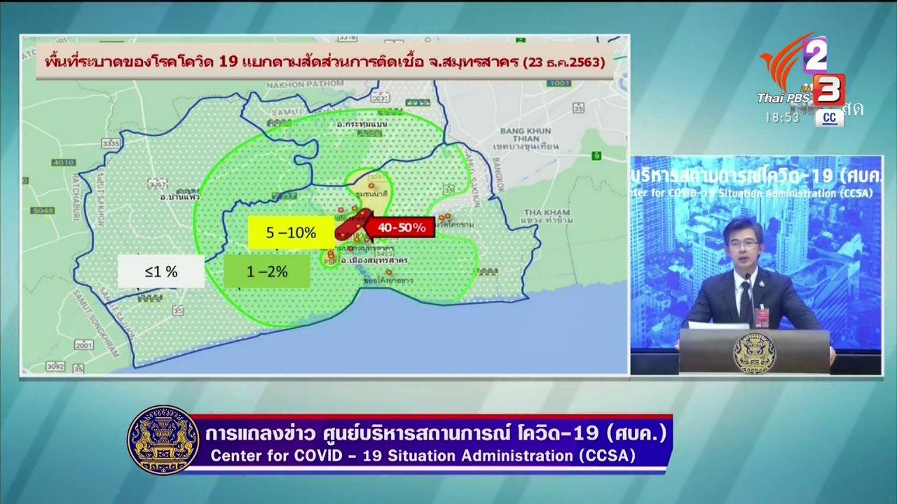 ข่าวค่ำ มิติใหม่ทั่วไทย - ศบค.จัด 4 โซนควบคุมโควิด-19