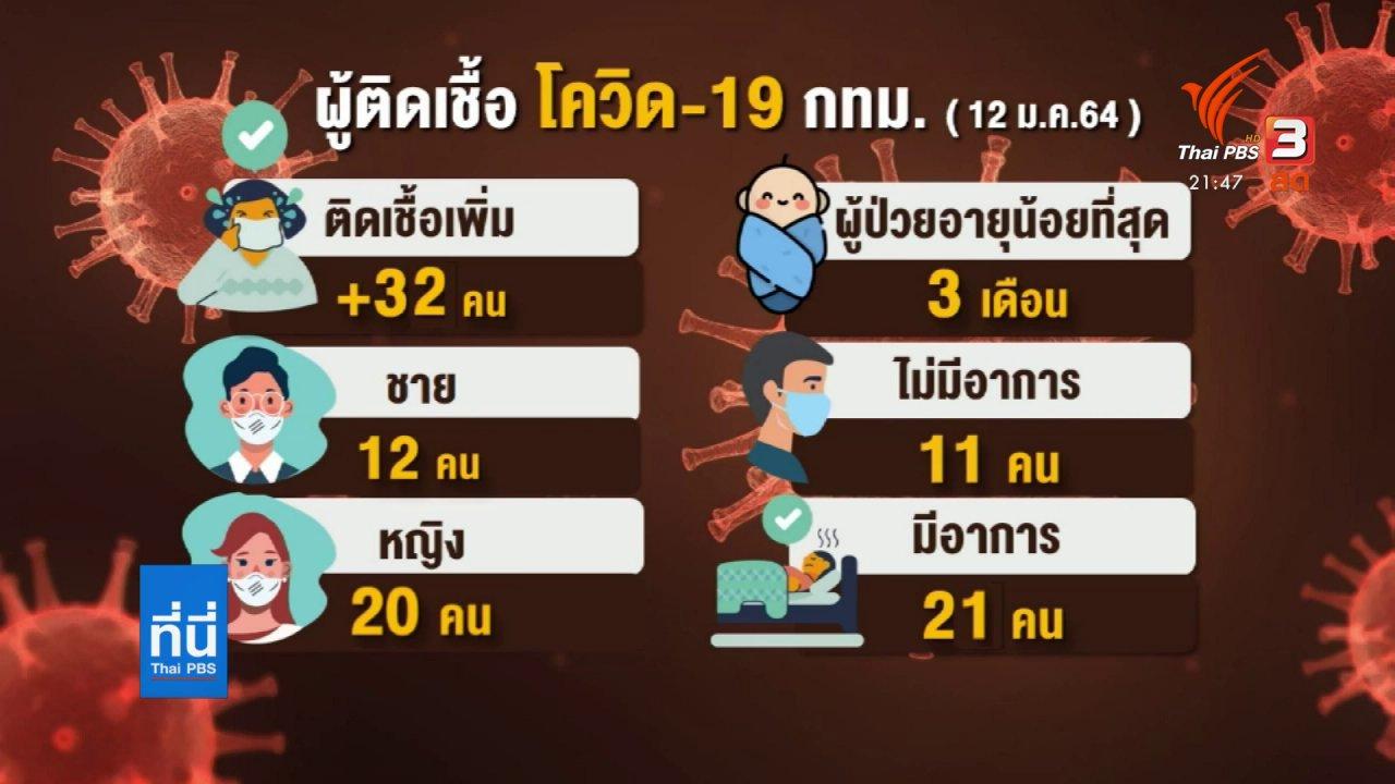 ที่นี่ Thai PBS - กทม.ติดโควิดวันเดียว 32 คน