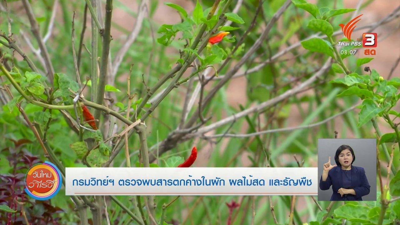 วันใหม่วาไรตี้ - จับตาข่าวเด่น : กรมวิทย์ฯ ตรวจพบสารตกค้างในผัก ผลไม้สดและธัญพืช