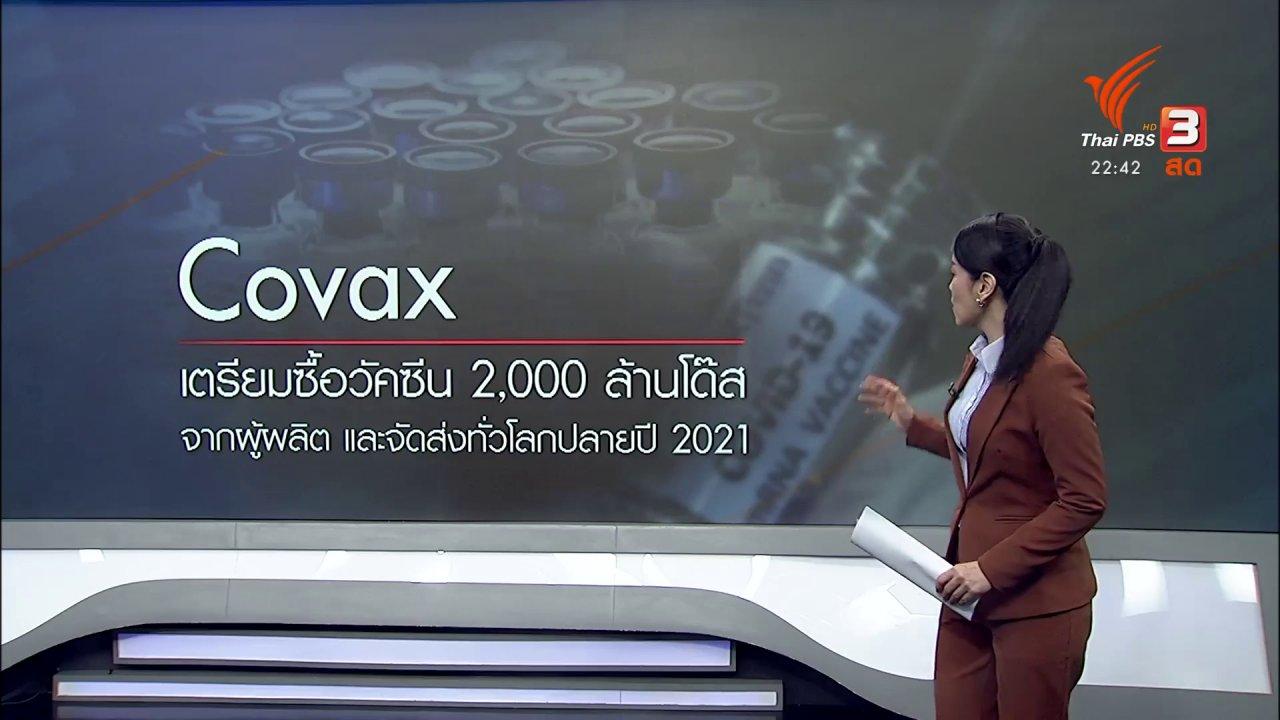 """ที่นี่ Thai PBS - """"ทรัมป์"""" ประกาศไม่เข้าร่วม Covax"""