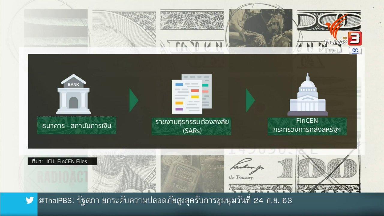 """ข่าวค่ำ มิติใหม่ทั่วไทย - วิเคราะห์สถานการณ์ต่างประเทศ : """"FinCEN Files"""" สะเทือนวงการธนาคารโลก"""