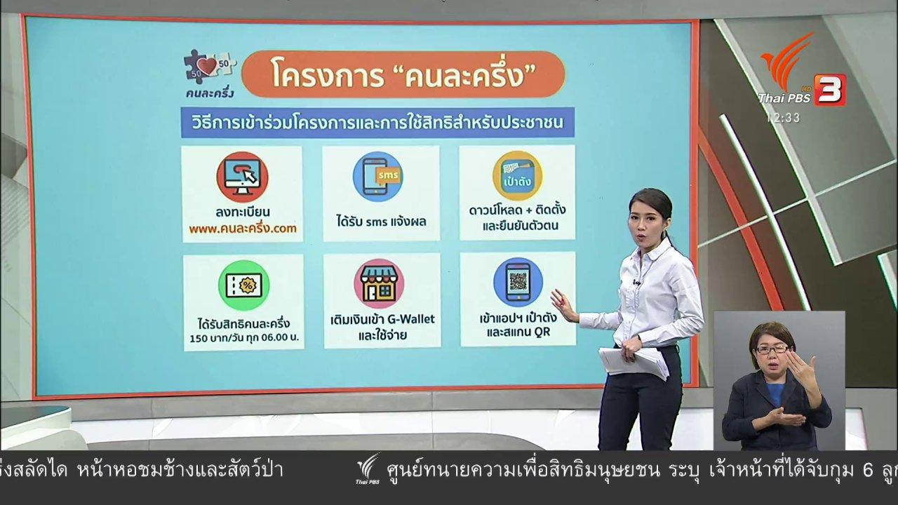 จับตาสถานการณ์ - วัคซีนเศรษฐกิจ : คนละครึ่งช่วยไทย