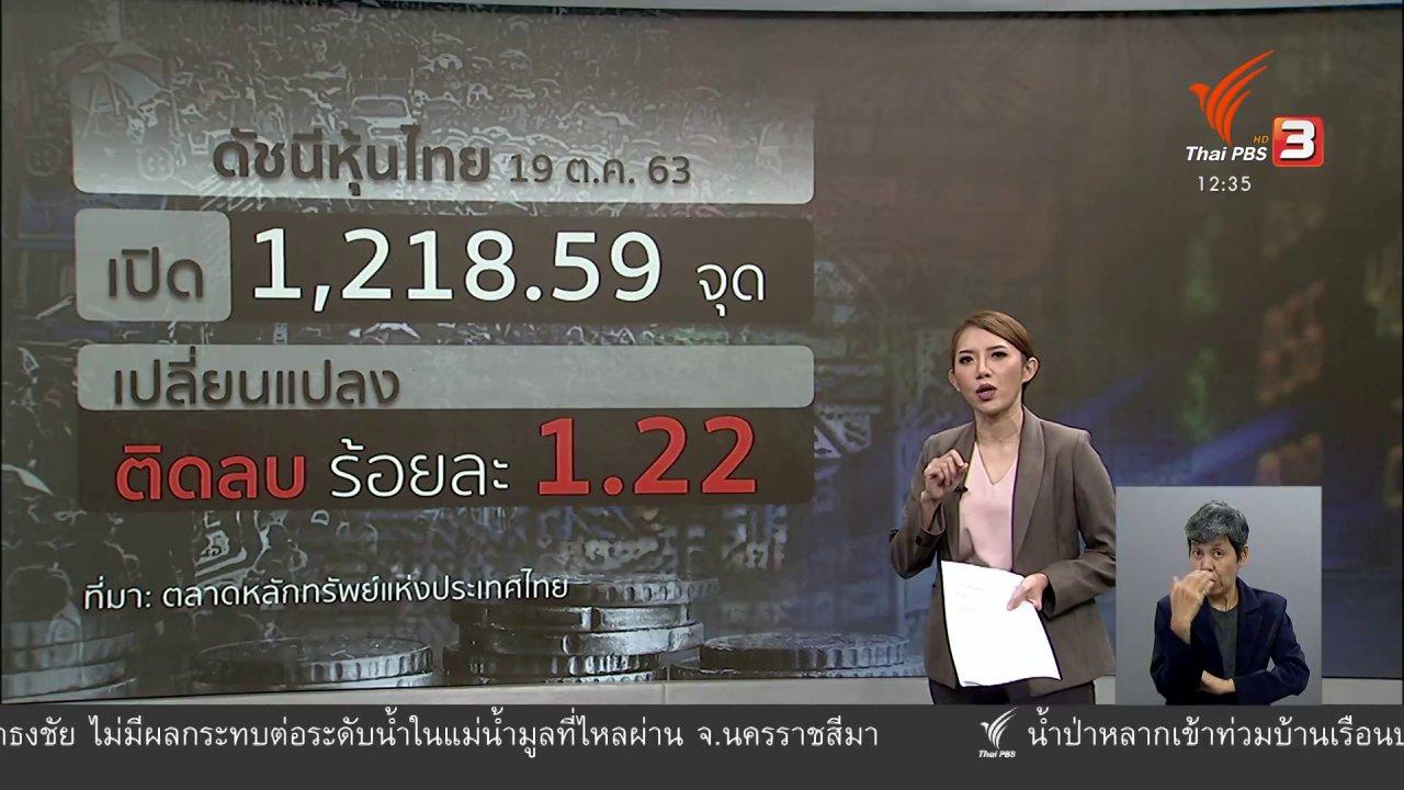 จับตาสถานการณ์ - วัคซีนเศรษฐกิจ : การเมืองกดดัน หุ้นไทยร่วง