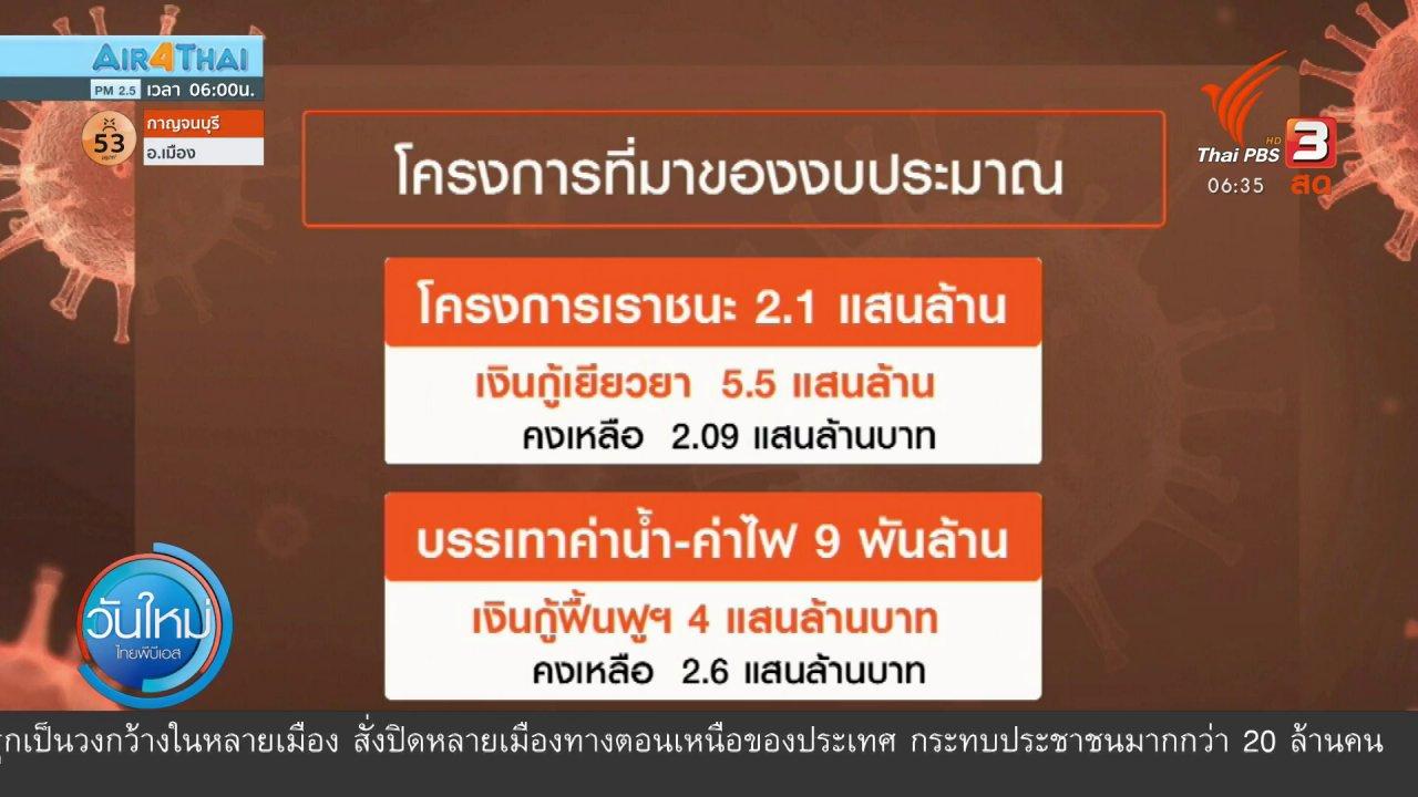 วันใหม่  ไทยพีบีเอส - มุม(การ)เมือง : ล็อกกลุ่มเป้าหมายแจกเงินเยียวยา 3,500 บาท