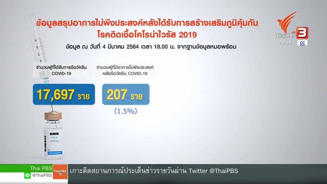 ข่าวค่ำ มิติใหม่ทั่วไทย - พยาบาลเข้าข่ายเกิดผลข้างเคียงรุนแรง หลังรับวัคซีนฯ