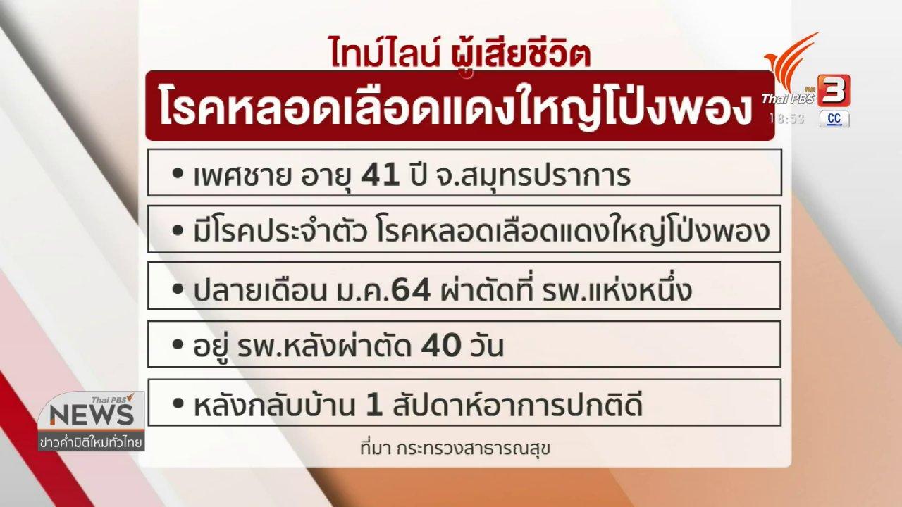 ข่าวค่ำ มิติใหม่ทั่วไทย - ชี้แจงกรณีชายเสียชีวิต ไม่เกี่ยวกับวัคซีนโควิด-19