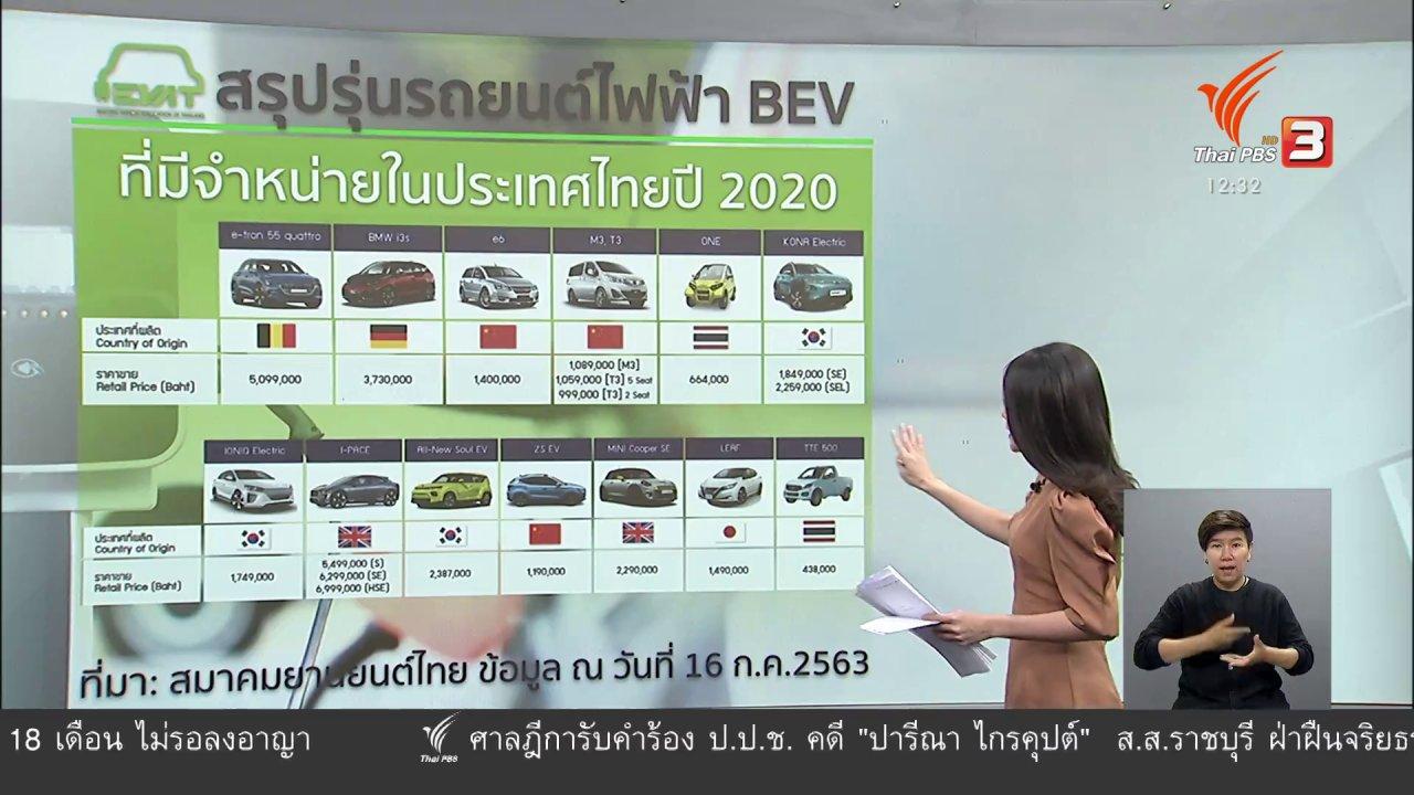 จับตาสถานการณ์ - วัคซีนเศรษฐกิจ : แผน EV ชาติ กระตุ้นไทยใช้ยานยนต์ไฟฟ้า