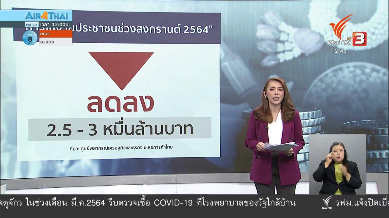 จับตาสถานการณ์ - วัคซีนเศรษฐกิจ : เศรษฐกิจสงกรานต์ 2564