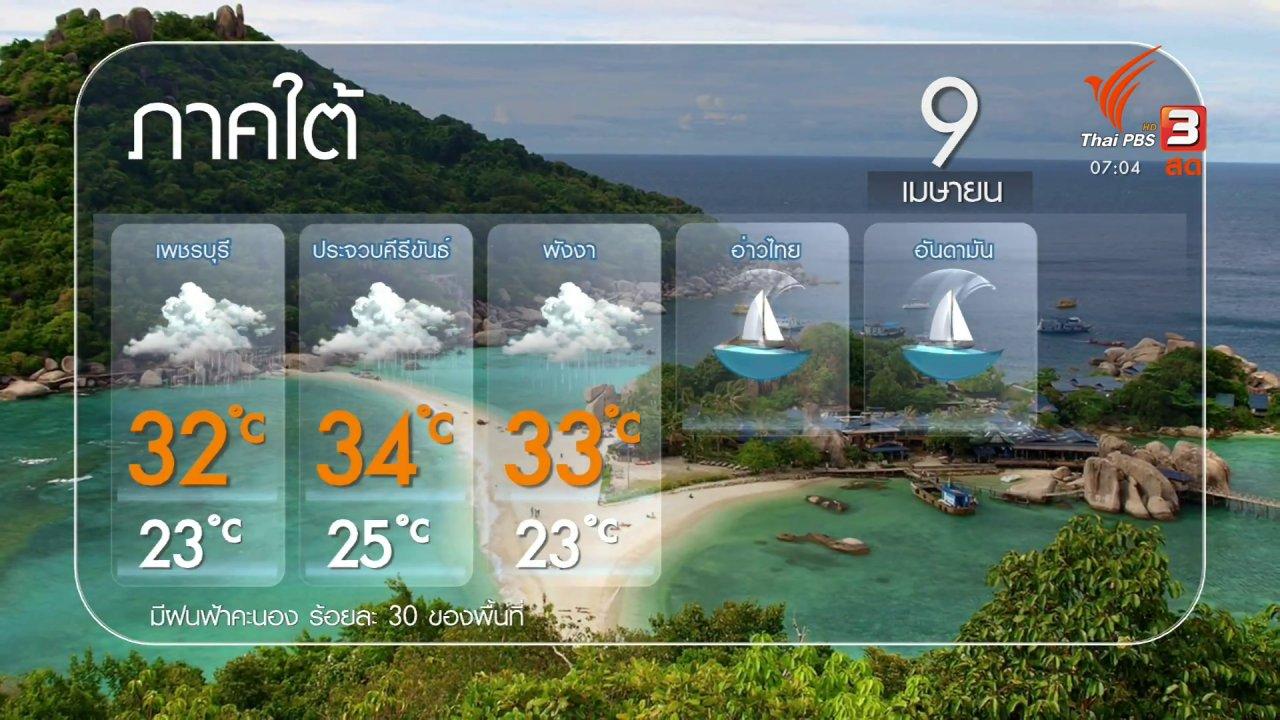 วันใหม่  ไทยพีบีเอส - 2 องศา ทำมาหากิน ดิน ฟ้า อากาศ : อุตุฯ เตือน ไทยตอนบนระวังฝนช่วงสงกรานต์