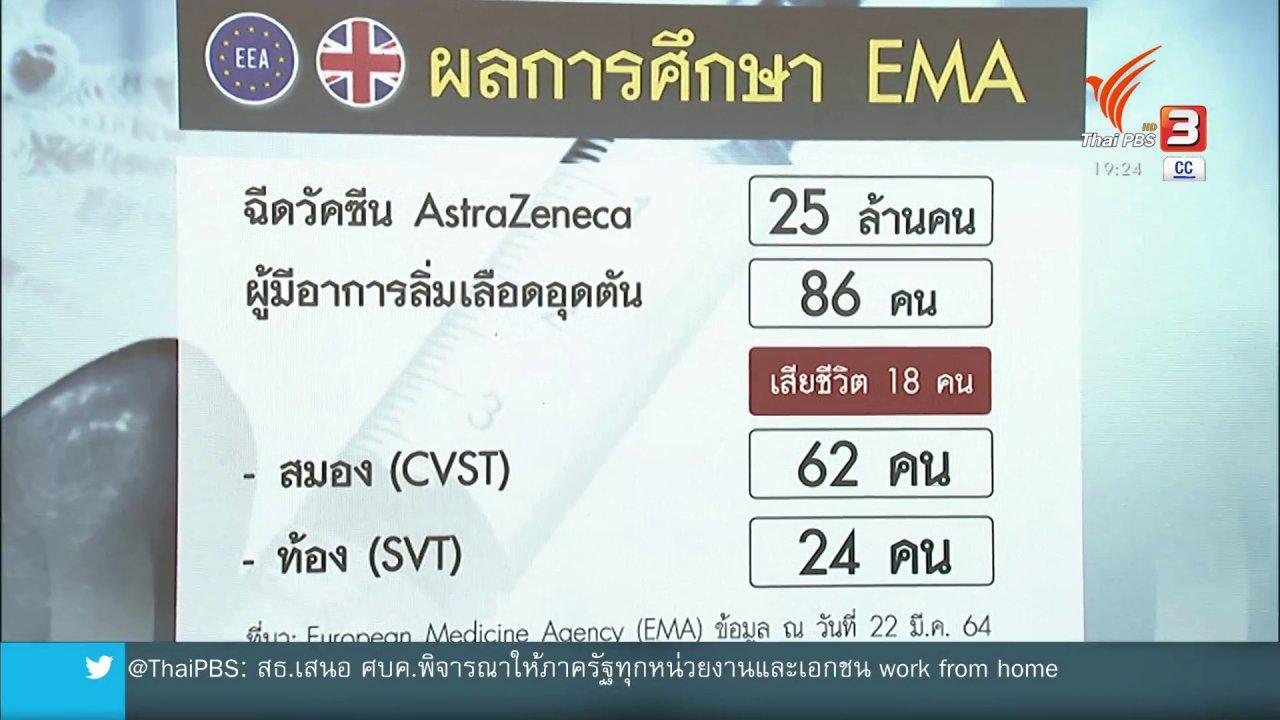 """ข่าวค่ำ มิติใหม่ทั่วไทย - วิเคราะห์สถานการณ์ต่างประเทศ : วัคซีน """"แอสตราเซเนกา"""" เชื่อมโยงภาวะลิ่มเลือดอุดตัน รบกวนร้อยในเพลย์ลิสต์ด้วยนะคะ"""